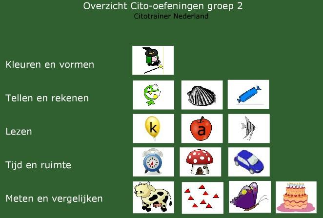 Oefenen Voor De Citotoetsen In Groep 2 Citotrainer Nederland